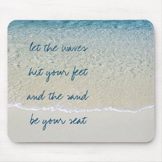 Inspirational Turquoise Blue Ocean Surf Waves Mouse Mat