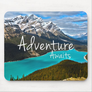 Inspirational Typography Adventure Awaits Mouse Pad