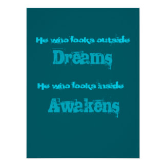 Inspirational Typography Awakening Quote Poster