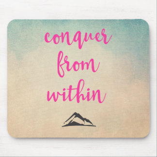 Inspirational Typography Quote on Determination Mouse Pad