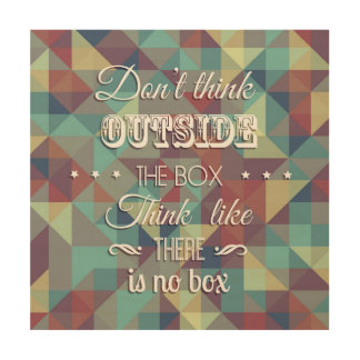 Inspirational typography quote wood print