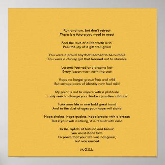 Inspirational Untitled Poem by Matt Poster