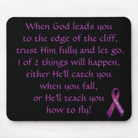 Inspirational Verse For Cancer Survivor Mousepad