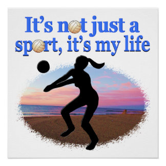 INSPIRATIONAL VOLLEYBALL IS MY LIFE DESIGN