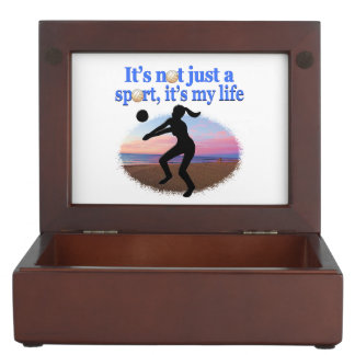 INSPIRATIONAL VOLLEYBALL IS MY LIFE DESIGN KEEPSAKE BOXES