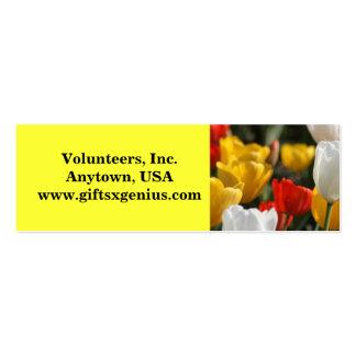 Inspirational Volunteer Appreciation Gift Pack Of Skinny Business Cards