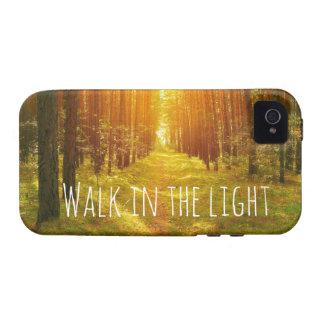 Inspirational Walk in the Light Bible Verse Case-Mate iPhone 4 Case