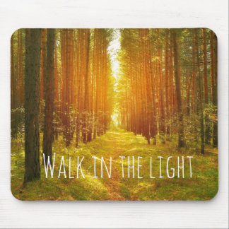 Inspirational Walk in the Light Bible Verse Mouse Mat