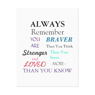 Inspirational Wall Art Brave Quote