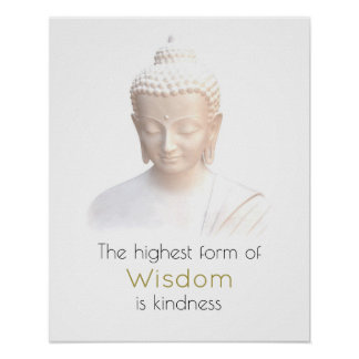 Inspirational Wisdom Quote With White Buddha Poster
