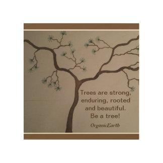 Inspirational Wood Print