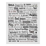 inspirational word art collage poster