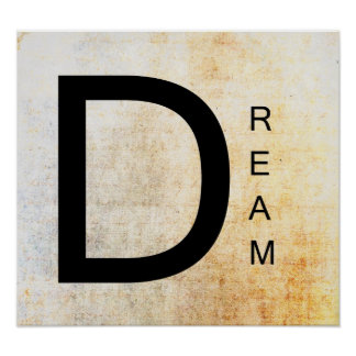 Inspirational Word Art- Dream Poster