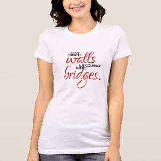 Inspirational Words Courage Builds Bridges T-Shirt