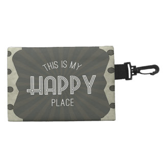 Inspirational Words Happy Place Accessories Bags