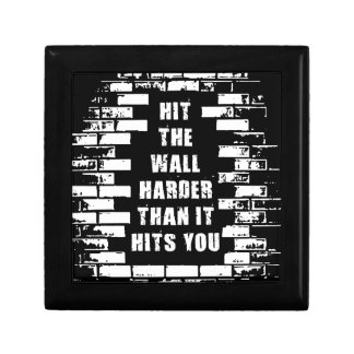 Inspirational Words - Hit The Wall Harder Gift Box