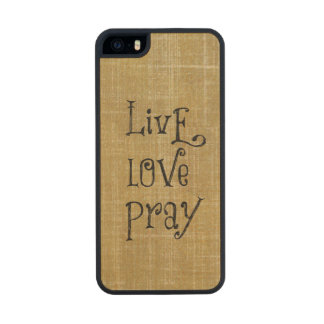 Inspirational Words: Live Love Pray iPhone 6 Plus Case