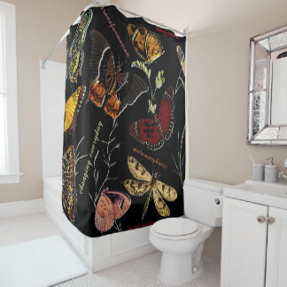 Inspirational Words on Colorful Butterflies Shower Curtain