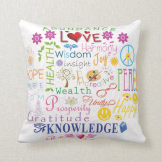 Inspirational Words to Live By Cushion