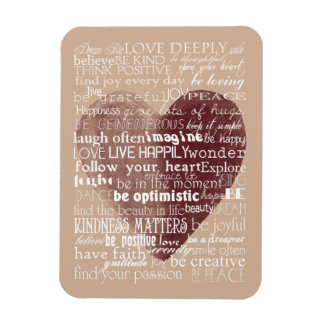 Inspirational Words Watercolor Heart Magnet