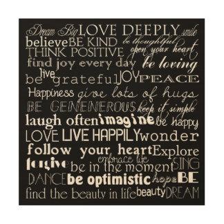 Inspirational Words Wood Wall Decor
