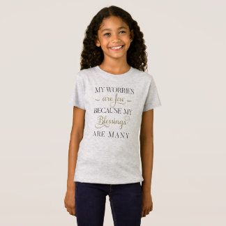 Inspirational Worries and Blessings | Jersey Shirt