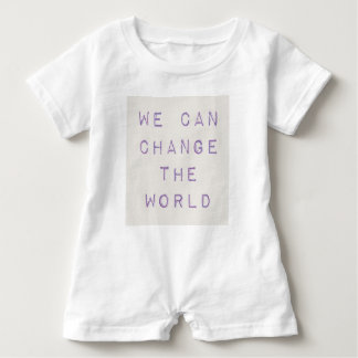 Inspirational 'you can change the world' baby bodysuit