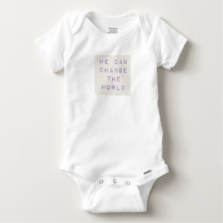 Inspirational 'you can change the world' baby onesie