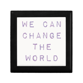 Inspirational 'you can change the world' gift box