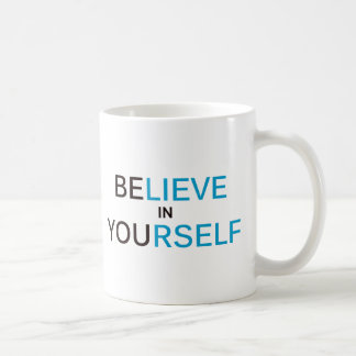 iNSPIRE Believe In Yourself Basic White Mug