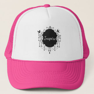 Inspire  Cute bird  Gothic hat pink