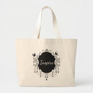 Inspire  Cute bird  Gothic tote bag