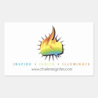 Inspire Ignite Illuminate Rectangle Sticker
