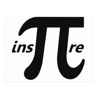 Inspire Inspirational Pi Symbol Postcards