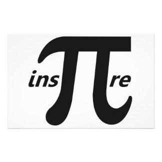 Inspire Inspirational Pi Symbol Stationery Paper