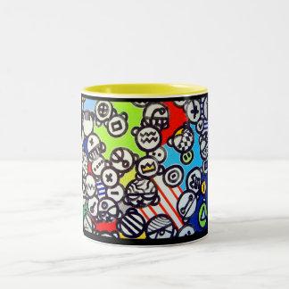 Inspire` par dubuffet Two-Tone mug