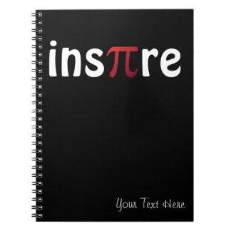 Inspire Pi Day Mathematics Math Geek Spiral Notebook