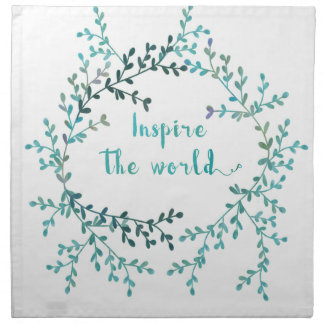 Inspire the world napkin