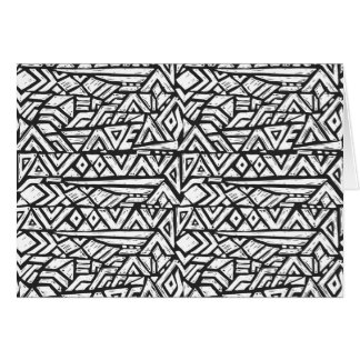Inspired Artsy Tribal Pattern Card