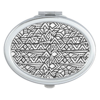 Inspired Artsy Tribal Pattern Makeup Mirror