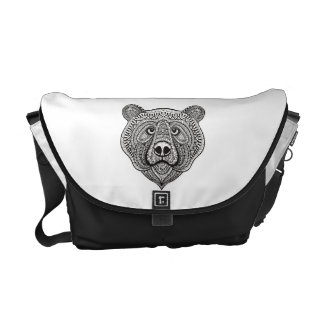 Inspired Bear Face Courier Bag
