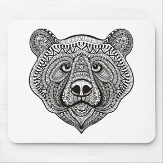 Inspired Bear Face Mouse Mat