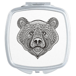 Inspired Bear Face Travel Mirrors