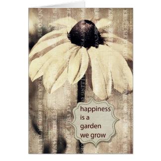 Inspired Black Eyed Susan Flower Greeting Card