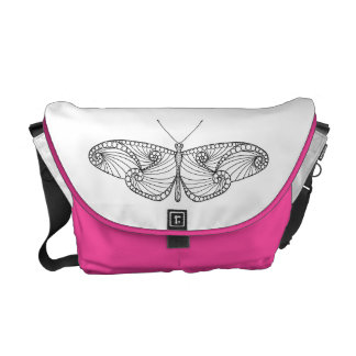Inspired Butterfly Art Courier Bags