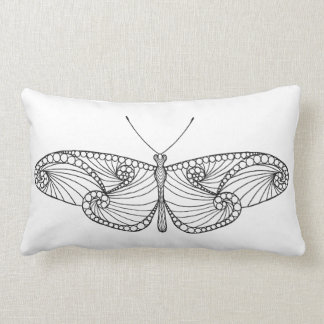 Inspired Butterfly Art Lumbar Cushion