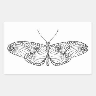 Inspired Butterfly Art Rectangular Sticker
