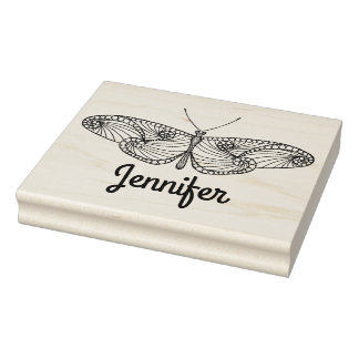 Inspired Butterfly Art Rubber Stamp