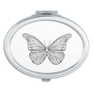 Inspired Butterfly Compact Mirror