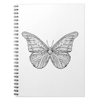 Inspired Butterfly Spiral Notebook